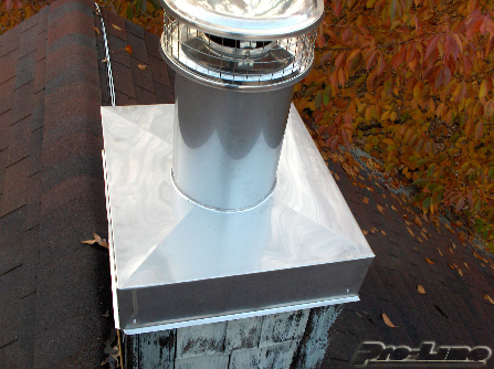 Custom Stainless Steel Chimney Chase Covers Long Island