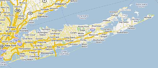 Suffolk County Long Island Map Queenstyle